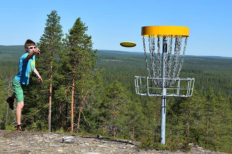 Frisbee golf park